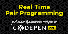 CodePen PRO Real Time Pair Programming