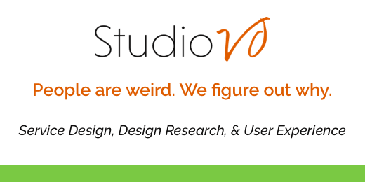 Studio VO: Service Design Design Research, User Experience